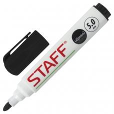 Маркер для доски STAFF, ЧЕРНЫЙ, с клипом, круглый наконечник 5 мм