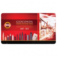 Набор художественный KOH-I-NOOR 'Gioconda', 39 предметов, металлическая коробка, 8891000001PL