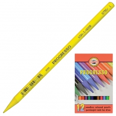Карандаши цветные художественные KOH-I-NOOR 'Progresso', 12 цветов, 7,1 мм, в лаке, без дерева, заточенные, 8756012007PZ