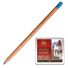 Карандаши цветные пастельные KOH-I-NOOR 'Gioconda', 24 цвета, мягкие, металлическая коробка, 8828024001PL