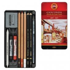 Набор художественный KOH-I-NOOR 'Gioconda', 10 предметов, металлическая коробка, 8890000001PL
