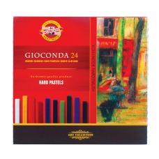 Пастель сухая художественная KOH-I-NOOR Gioconda, 24 цвета, квадратное сечение, 8114024003KS