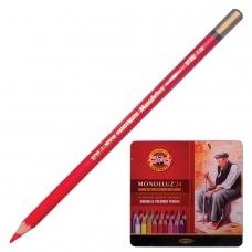 Карандаши цветные акварельные художественные KOH-I-NOOR 'Mondeluz', 24 цвета, 3,8 мм, заточенные, металлическая коробка, 3724024001PL