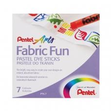 Пастель для ткани PENTEL 'Fabric Fun', 7 цветов, картонная упаковка, PTS-7