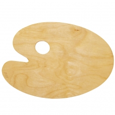 Палитра для рисования, деревянная, овальная, 20х30 см, толщина 3 мм, DK18442