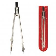 Циркуль для старших классов и студентов, 155 мм, стальной, никелированный, чехол ПВХ, ЦЧ-70-10