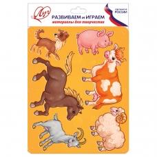 Трафарет-раскраска ЛУЧ 'Домашние животные', 9C 447-08
