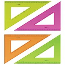Треугольник пластиковый, угол 30х23 см, СТАММ 'Neon Crystal', тонированный, прозрачный, неоновый, ассорти, ТК54