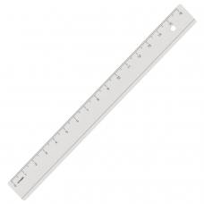 Линейка пластиковая 16 см, СТАММ, прозрачная, ЛН03