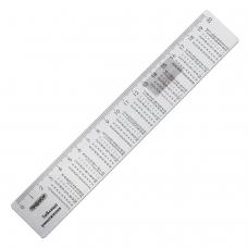 Линейка пластик 20 см, ПИФАГОР, справочная, таблица умножения, 210616