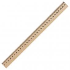 Линейка деревянная 30 см, ПИФАГОР, 210669