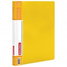 Папка с металлическим скоросшивателем и внутренним карманом BRAUBERG 'Contract', желтая, до 100 л., 0,7 мм, 221785