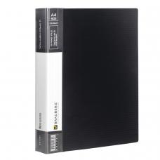 Папка на 2 кольцах BRAUBERG 'Contract', 35 мм, черная, до 270 листов, 0,9 мм, 221791