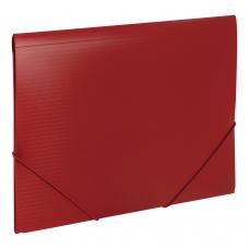Папка на резинках BRAUBERG 'Contract', красная, до 300 листов, 0,5 мм, бизнес-класс, 221798