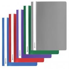 Скоросшиватель пластиковый BRAUBERG, цвет ассорти, 221820