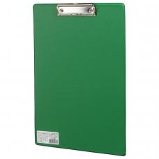 Доска-планшет BRAUBERG 'Comfort', с верхним прижимом, А4, 23х35 см, картон/ПВХ, зеленая, 222663