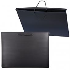 Папка для рисунков и чертежей А3, 460х343 мм, ПЧЕЛКА, с ручками, пластиковая, черная, ПМ-А3-35