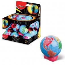 Точилка MAPED Франция Globe, металлический контейнер, в форме глобуса, 051111
