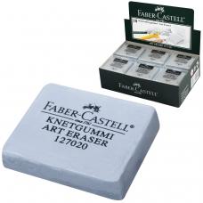 Ластик-клячка FABER-CASTELL, 40х35х10 мм, мягкий, серый, 127220