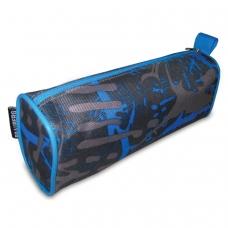 Пенал-косметичка BRAUBERG полиэстер, сер/голубой, 'Элемент', 21х6х8 см, 223905