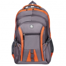 Рюкзак BRAUBERG 'SpeedWay 2', 25 л, размер 46х32х19 см, ткань, серо-оранжевый, 224448