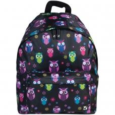 Рюкзак BRAUBERG, универсальный, сити-формат, черный, 'Совы', 20 литров, 41х32х14 см, 225361