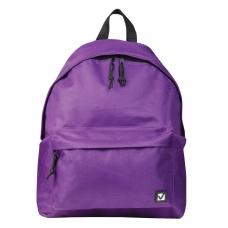 Рюкзак BRAUBERG, универсальный, сити-формат, один тон, фиолетовый, 20 литров, 41х32х14 см, 225376