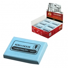 Ластик-клячка KOH-I-NOOR, 47x36x10 мм, мягкий, голубой, 6421018009KD