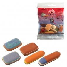 Резинки стирательные KOH-I-NOOR, набор 50 г, цвет и форма ассорти, европодвес, 6510005010PSRU
