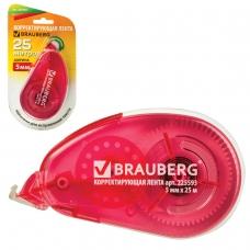 Корректирующая лента BRAUBERG 'Maxi', увеличенная длина 5 мм х 25 м, белый/красный корпус, блистер, 225593