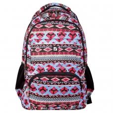 Рюкзак BRAUBERG для старшеклассников/студентов/молодежи, узоры, Фигуры, 27 литров, 47х32х14 см, 226353