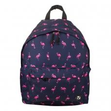 Рюкзак BRAUBERG универсальный, сити-формат, синий, 'Фламинго', 20 литров, 41х32х14 см, 226404