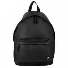 Рюкзак BRAUBERG универсальный, сити-формат, черный, кожзам, 'Селебрити', 20 литров, 41х32х14 см, 226423