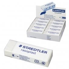 Резинка стирательная STAEDTLER 'Rasoplast', 65x23x13 мм, белая, картонный держатель, дисплей, 526 B20