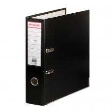 Папка-регистратор с покрытием из полипропилена, 75 мм, прочная, с уголком, BRAUBERG, черная, 226595