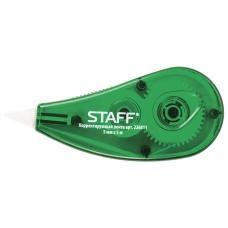 Корректирующая лента STAFF, 5 мм х 5 м, корпус зеленый, блистер, 226811