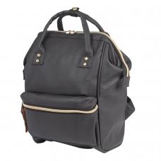 Рюкзак BRAUBERG молодежный, Блэк, искуственная кожа, черный, 34х23х15 см, 227081