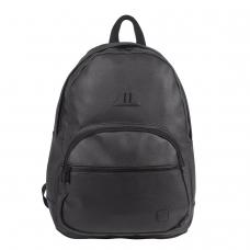 Рюкзак BRAUBERG молодежный, с отделением для ноутбука, 'Урбан', искусственная кожа, черный, 42х30х15 см, 227084