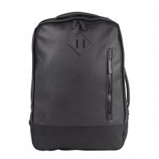 Рюкзак BRAUBERG молодежный с отделением для ноутбука, 'Квадро', искуственная кожа, черный, 44х29х13 см, 227088