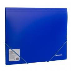 Папка на резинках BRAUBERG 'Neon', неоновая, синяя, до 300 листов, 0,5 мм, 227463