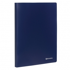 Папка на 2 кольцах BRAUBERG 'Office', 25 мм, синяя, до 170 листов, 0,5 мм, 227494