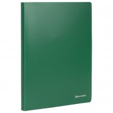 Папка на 2 кольцах BRAUBERG 'Office', 25 мм, зеленая, до 170 листов, 0,5 мм, 227497