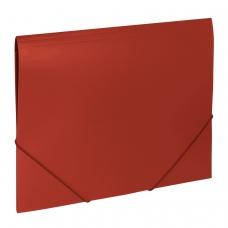 Папка на резинках BRAUBERG 'Office', красная, до 300 листов, 500 мкм, 227711