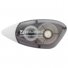 Корректирующая лента BRAUBERG BLACK&WHITE 5 мм х 8 м, корпус черный, механизм перемотки, 227800