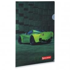 Папка-уголок BRAUBERG Sport Car, А4, 150 мкм, цветная печать, 228044