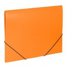 Папка на резинках BRAUBERG 'Office', оранжевая, до 300 листов, 500 мкм, 228084