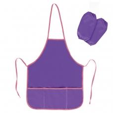 Фартук с нарукавниками для труда и занятий творчеством BRAUBERG, 44х55 см, фиолетовый, 228358