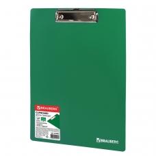 Доска-планшет BRAUBERG Contract сверхпрочная с прижимом А4 313х225мм,пластик, 1,5мм,ЗЕЛЕНАЯ,228682