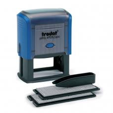Штамп самонаборный 7-строчный, оттиск 60х33 мм, синий, без рамки, TRODAT 4928/DB , корпус синий, кассы в комплекте