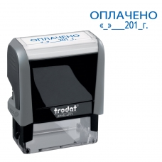 Штамп стандартный 'ОПЛАЧЕНО, дата', оттиск 38х14 мм, синий, TRODAT 4911P4-3.13, 4911-3.13